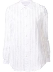 Julien David 'Eyelash' Shirt White