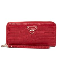Guess Rhoda Large Zip Wallet Ruby