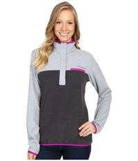 Columbia Mountain Side Pullover Shark Tradewinds Grey Heather Women's Long Sleeve Pullover Gray
