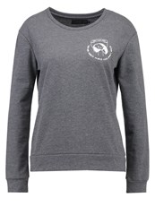 Evenandodd Sweatshirt Dark Grey Melange Mottled Dark Grey
