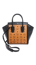 Mcm Small Kathy Tote Cognac And Black