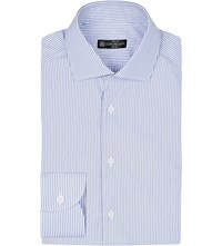 Corneliani Regular Fit Striped Cotton Shirt Blue 1