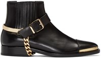 Balmain Black Buckled Chelsea Boots