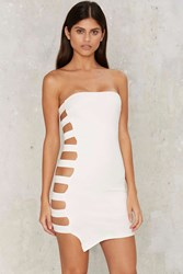 Beside Yourself Bodycon Dress White