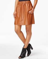 Maison Jules Pleather A Line Skirt Only At Macy's Tortoise Shell