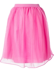 Red Valentino Layered Tulle Skirt Pink And Purple