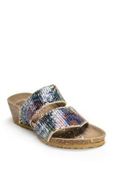 Muk Luks Ava Terra Turf Wedge Blue