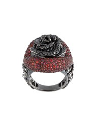 Lydia Courteille Rose Diamond And Sapphire Ring Red