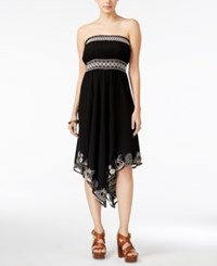 American Rag Embroidered Strapless Dress Only At Macy's Black