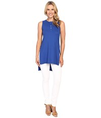 Mod O Doc Supreme Jersey Henley Tunic With Side Slits Sailor Women's Sleeveless Navy