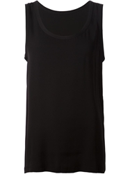 Dolce And Gabbana Loose Fit Tank Top Black