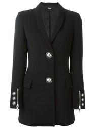 Versus Lion Head Button Blazer Black
