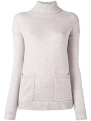 Allude Loose Turtleneck Sweater Nude Neutrals