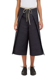 Alexa Stark Denim Wrap Around Pants Navy