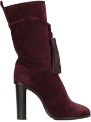 Lanvin Tassel Detail Boots Pink And Purple