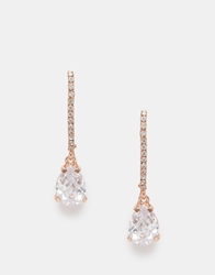 Love Rocks Teardrop Statement Earrings Rosegold
