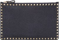 Valentino Navy Large Rockstud Pouch