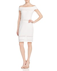 French Connection Lula Off The Shoulder Dress White