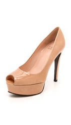 Stuart Weitzman Sadie 120Mm Peep Toe Pumps Adobe