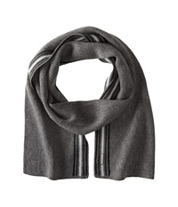 Smartwool Asymmetrical Pinstripe Scarf Medium Gray Heather Scarves