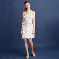 J.Crew Collection Feather Flapper Dress