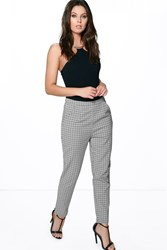 Boohoo Monochrome Slim Fit Ankle Trousers Multi