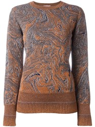 Lanvin Swirled Design Jumper Metallic