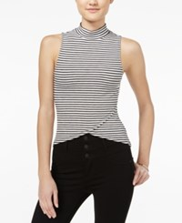 Material Girl Juniors' Mock Neck Asymmetrical Top Only At Macy's Cloud Dancer
