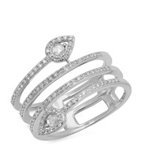 Kenza Lee Spiral Diamond Ring Female White Gold