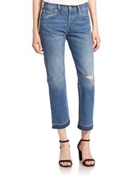 Levi's Distressed Cropped Cotton Jeans Wear