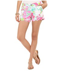 Lilly Pulitzer Buttercup Shorts Flamingo Pink Don't Give A Cluck Women's Shorts Blue