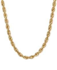 Macy's 3Mm Rope Chain 24 Necklace In 14K Gold Yellow Gold