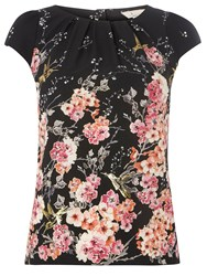 Dorothy Perkins Billie And Blossom Floral Shell Top Black