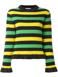J.W.Anderson Ruffle Trim Jumper Yellow Orange
