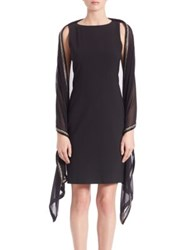 Harrison Morgan Silk Georgette Beaded Wrap Black