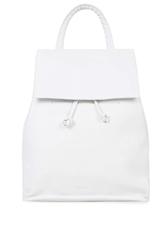 Topshop Smart Leather Backpack White