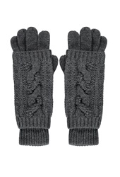 Forever 21 2 In 1 Cable Knit Gloves Charcoal