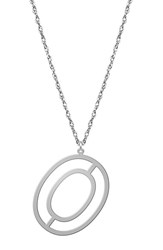Women's Jane Basch Designs Varsity Initial Pendant Necklace Silver O