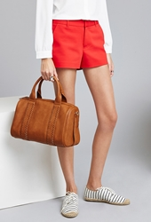 Forever 21 Stitched Faux Leather Satchel
