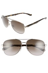Boss Men's '0700 S' 60Mm Aviator Sunglasses Light Gold Havana