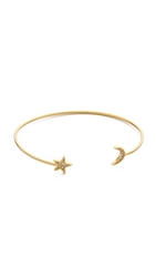 Tai Star And Moon Bangle Bracelet Gold