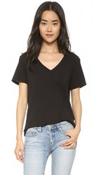 Splendid V Neck Tee Black