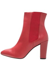Gardenia Anett High Heeled Ankle Boots Red