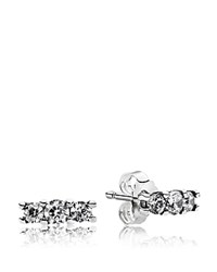 Pandora Design Earrings Sterling Silver And Cubic Zirconia Sparkle Studs