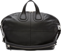 Givenchy Black Grained Leather Classic Nightingale Tote Bag