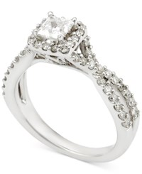 Macy's Diamond Princess Twist Engagement Ring 1 Ct. T.W. In 14K White Gold
