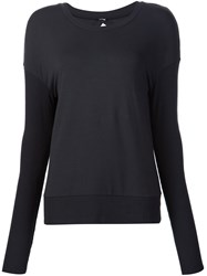 Alo Yoga Open Back Sweatshirt Black
