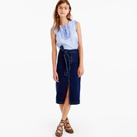 J.Crew Denim Tie Waist Skirt