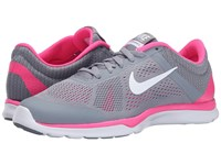 Nike In Season Tr 5 Stealth Pink Pow Cool Grey White Women's Cross Training Shoes Gray