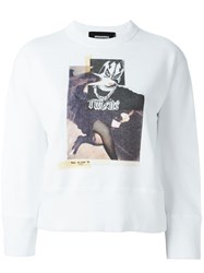 Dsquared2 Collage Print Sweatshirt White